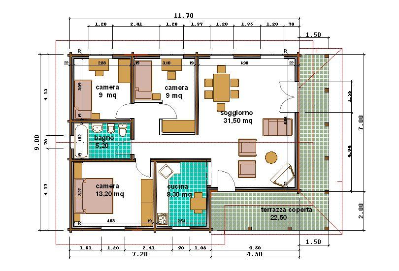 Pianta appartamento 80 mq decora la tua vita - Planimetria casa 120 mq ...