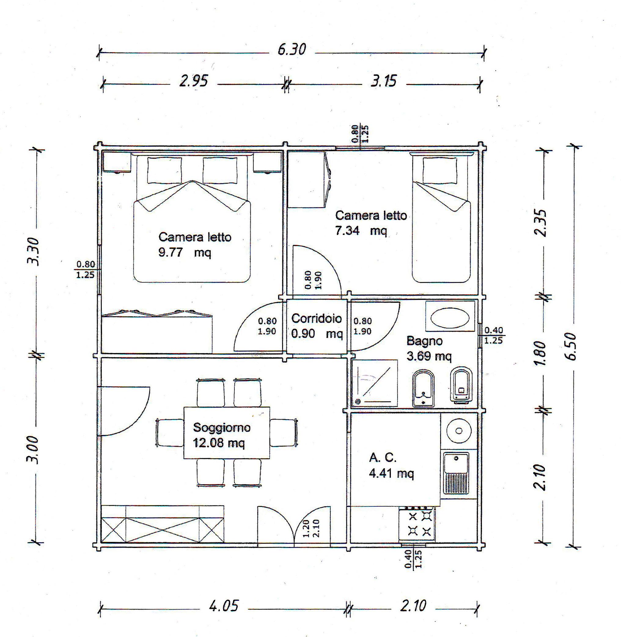 Piantina Appartamento Con Misure ~ home design, ispirazione interni e mobili