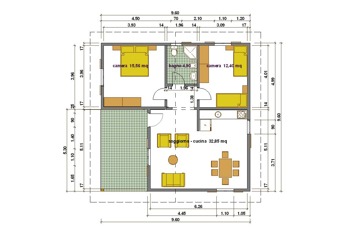 Pianta di una casa di 80 mq idee creative di interni e for Progetti di piani di casa con foto