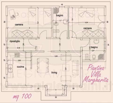 Piantina Casa prefabbricata ecologica
