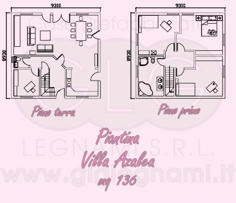 Piantina Casa Prefabbricata - Villa Azalea
